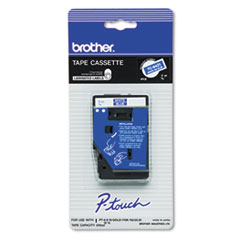 Brother P-Touch  TC TAPE CARTRIDGE FOR P-TOUCH LABELERS, 3/8W, WHITE ON BLUE