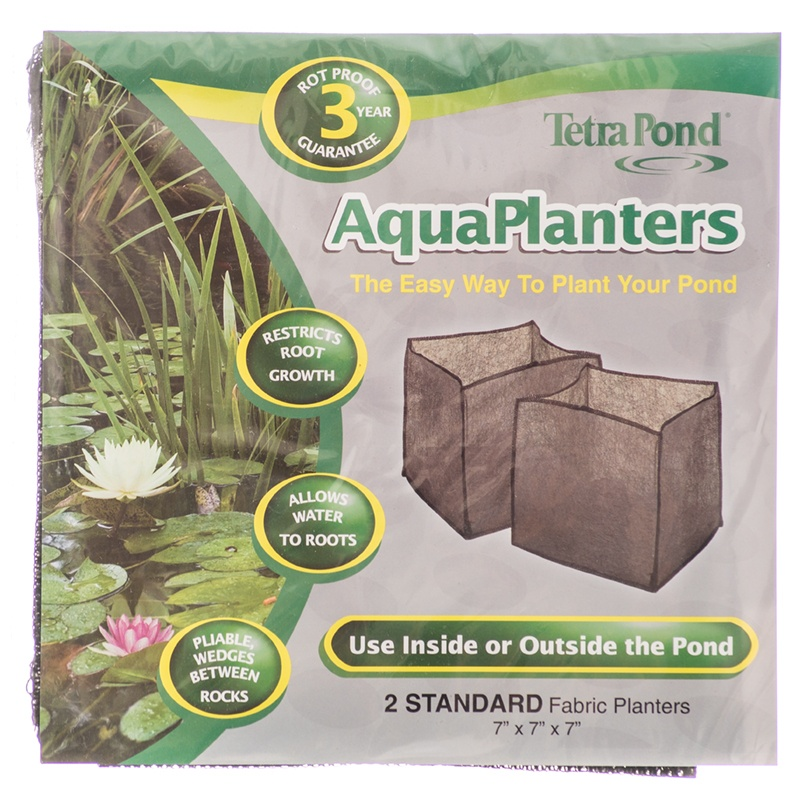 "Tetra Pond AquaPlanters Fabric Pond Planters Large - 2 Pack - (10""L x 10\""W x 10\""H)"