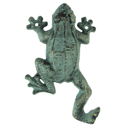 Cast Iron Gecko Frog Door Hook Wall Coat Hanger Keyring Holder