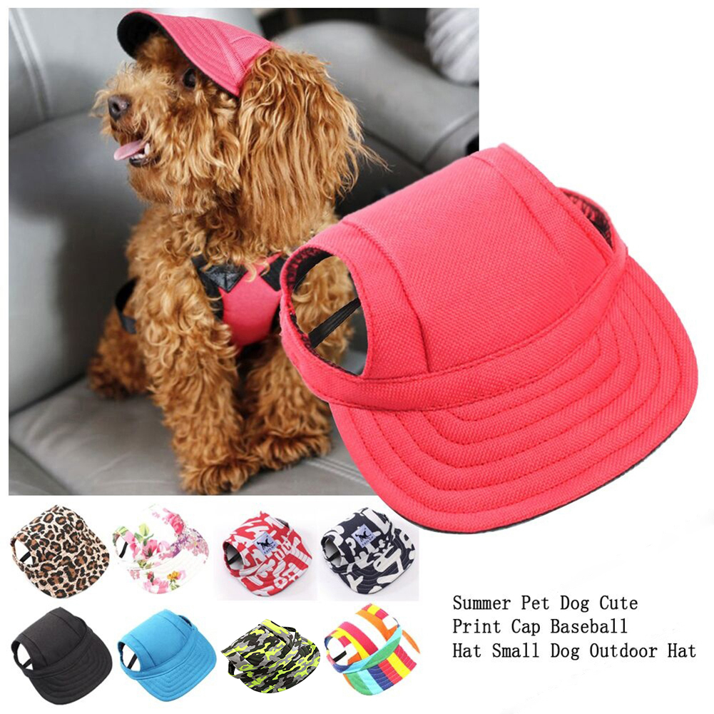 Heepo Summer Pet Dog Cute Snapback Baseball Hat Puppy Dog Casual Canvas  Outdoor Cap