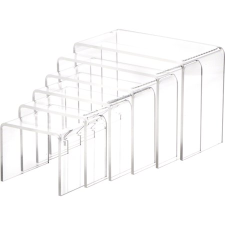 Plymor Brand Clear Acrylic Riser Sets