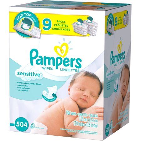 037000941743 Upc Pampers Sensitive Wipes 504 Count Upc