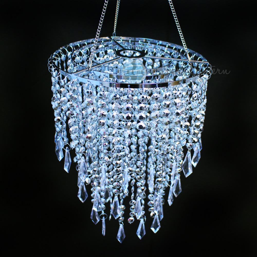 Quasimoon Designer Crystal Stainless Steel Chandelier 8.75 x 12 Inch Round Single Tier, Bejeweled by PaperLanternStore by Asian Import Store, Inc.