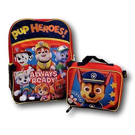 Paw Patrol Backpack With Detachable Insulated Lunch Bag