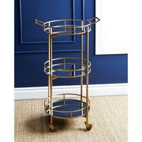 Abbyson Prantley 3 Tier Cylinder Bar Cart