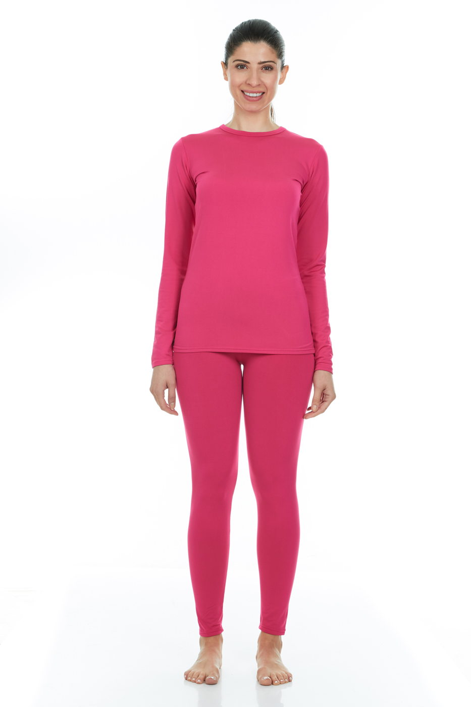 ac4dce12 Thermajane - Thermajane Women's Ultra Soft Thermal Underwear Long Johns Set  With Fleece Lined (X-Small, White) - Walmart.com