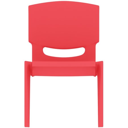 2xhome - Red - Kids Size Plastic Side Chair 10