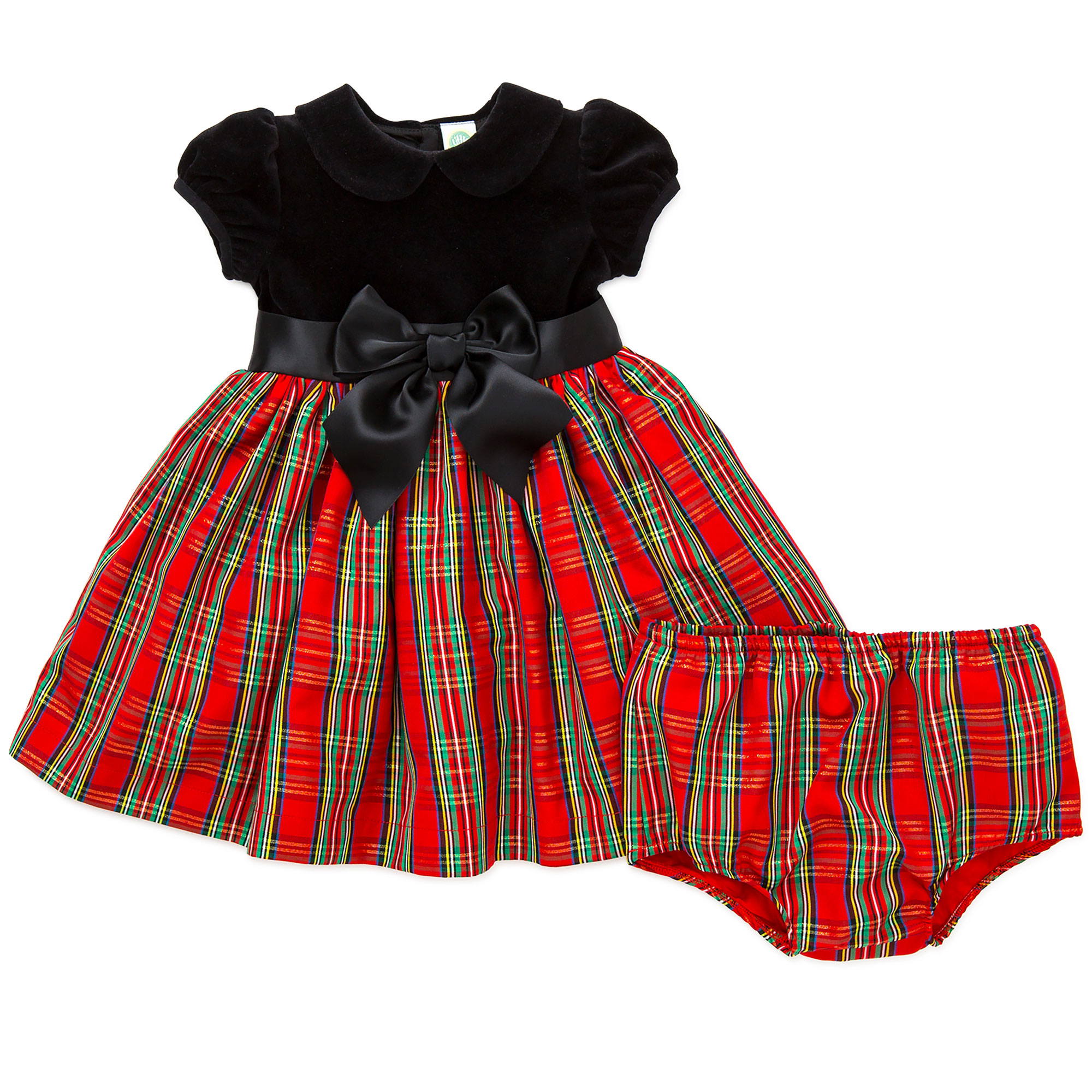 Ltmbaby Little Girl Baby Girls Plaid Holiday Christmas Dress Panty
