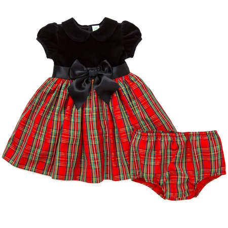 little girl baby girls plaid holiday christmas dress panty set red and black 24m walmartcom