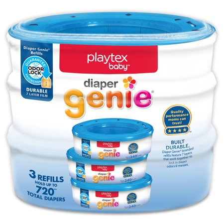 Playtex Baby Diaper Genie Diaper Disposal Pail System Refills, 3 Ct (How Long Do Per)