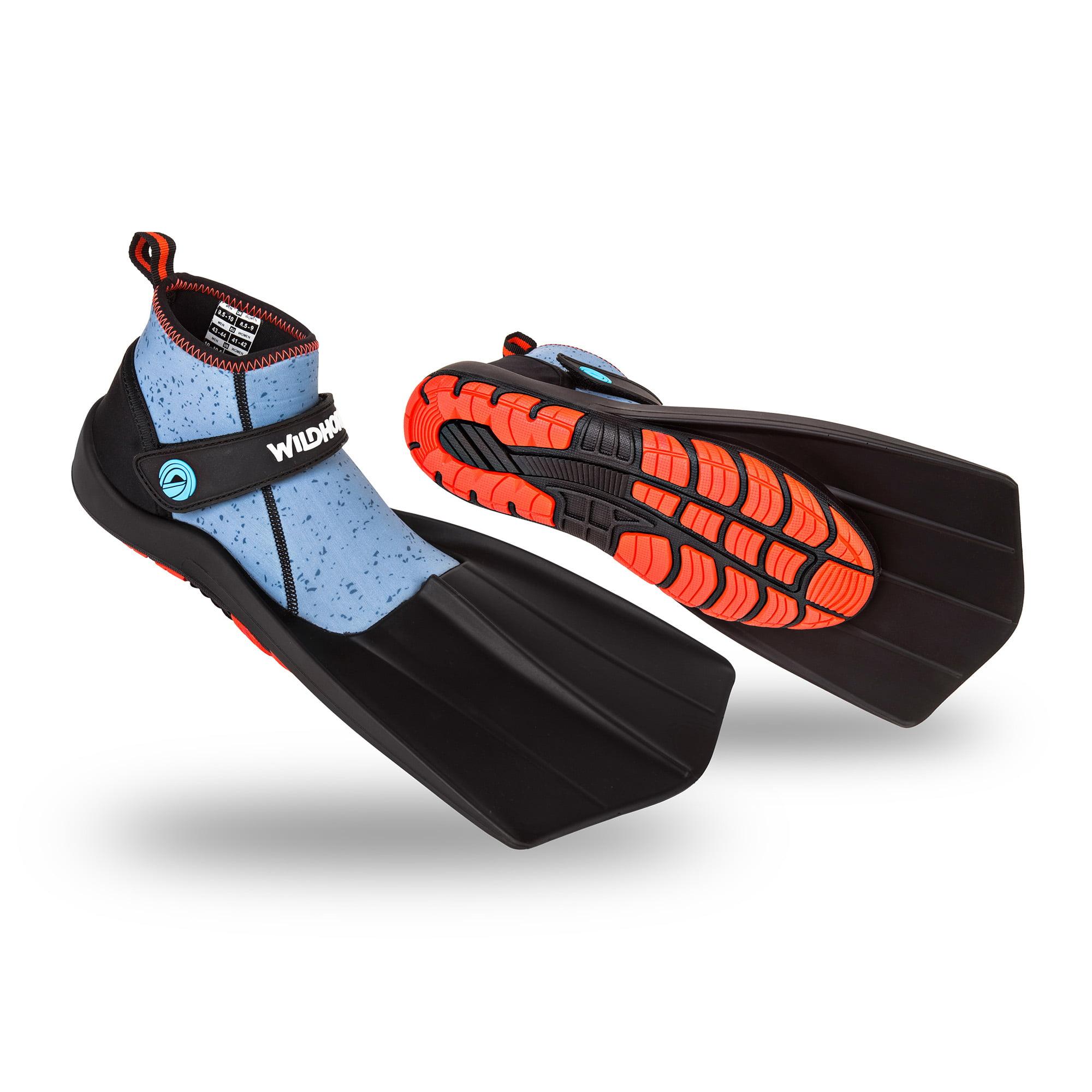 Wildhorn Men's 9 - Women's 9-9.5 Topside Hydro Fins Snorkel Flippers, Manta Ray