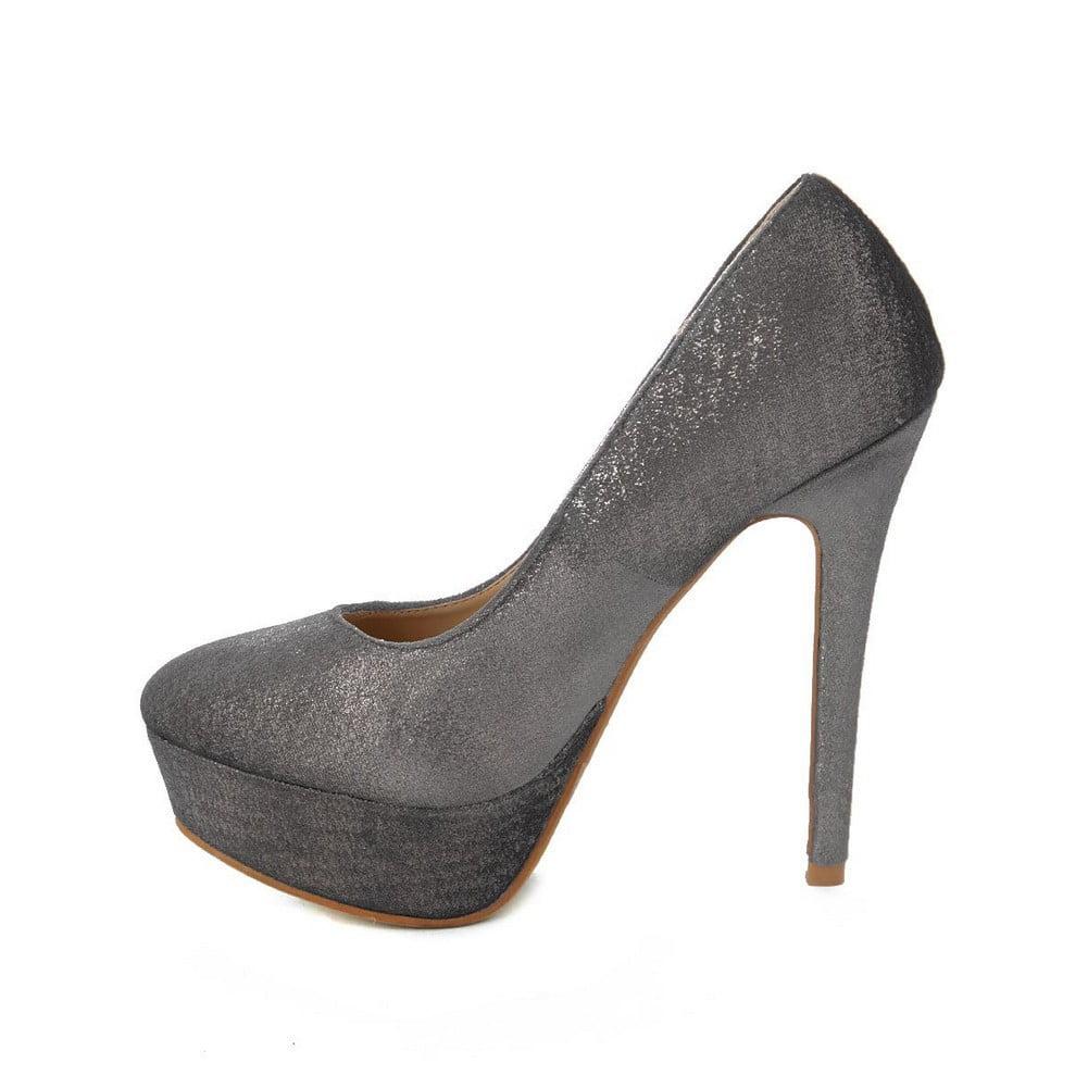 313389ce143b Ranee - Ranee Adult Silver Shimmery Platform Stiletto Heel Stylish Pumps -  Walmart.com