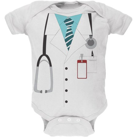 Doctor Costume White Soft Baby One Piece](Baby Doctor Costume)