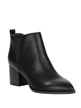Melrose Ave Vegan Leather Slip-on Block Heel Bootie (Women's)