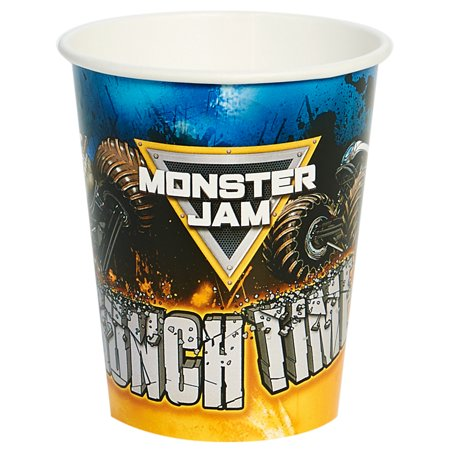Monster Jam Party Supplies 8 Pack Paper Cups - Monster Truck Party Supplies