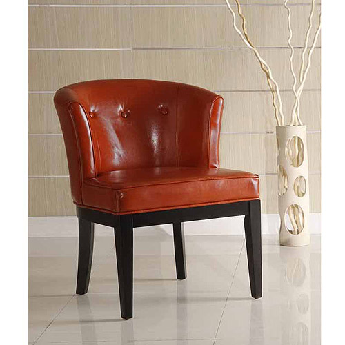 Ovation Tufted Leather Stationary Club Chair, Multiple Colors