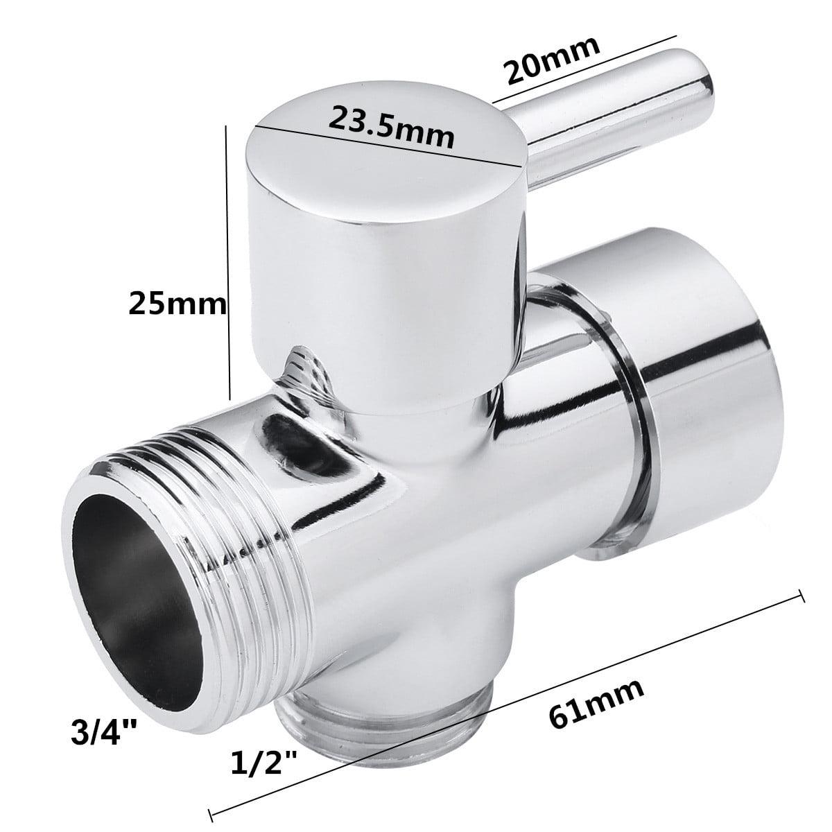 ABS Hand Held Bidet Shower Bathroom Spray 3/4  T-adapter Full Faucets Set Sprayer Jet
