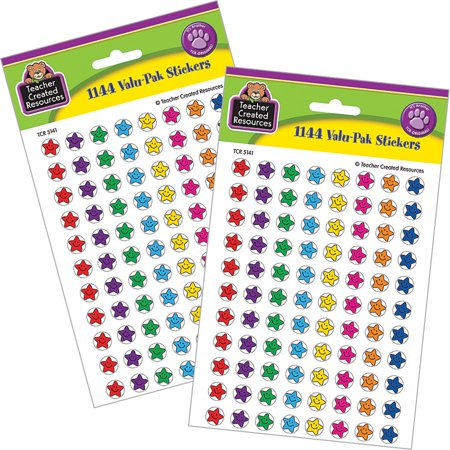 Double Happiness Stickers - Smiley Stars Mini Stickers Double Valu-Pak (2,288 Count)