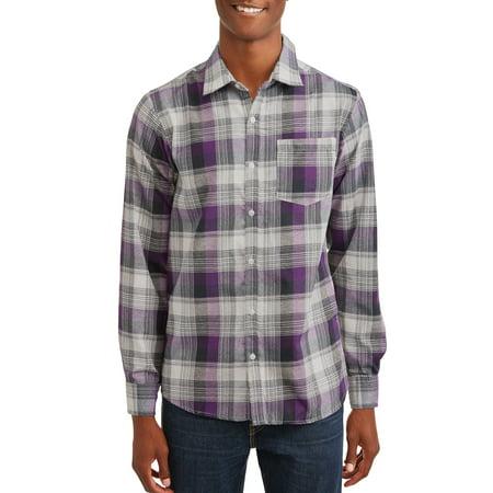 Blue Plaid Western Shirt (Big Men's Long Sleeve Yarn Dyed Plaid)