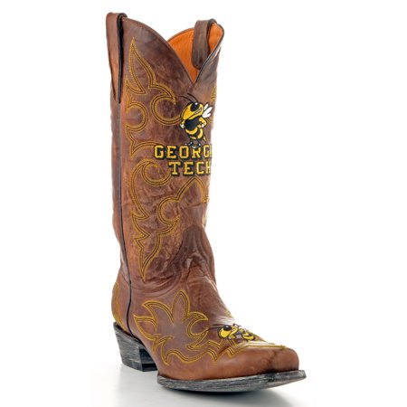 Gameday Boots Mens Leather Georgia Tech Cowboy Boots