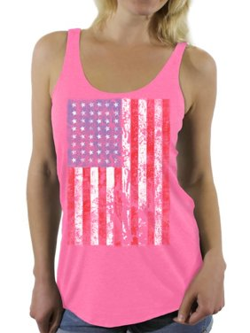 ae20b4aae8eaaf Product Image Awkward Styles Women s USA Flag Distressed Graphic Racerback  Tank Tops 4th of July Independence Day
