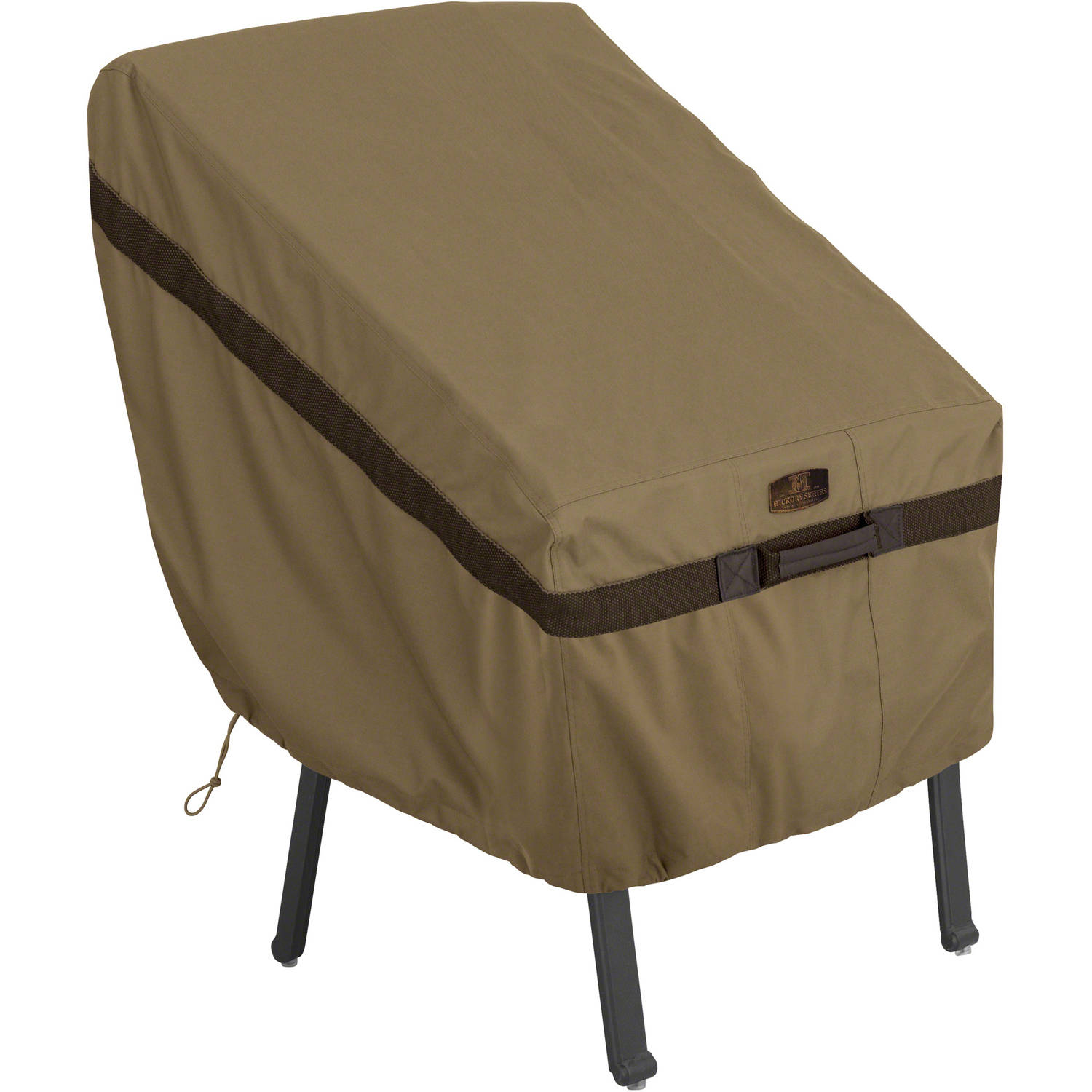 Classic Accessories Hickory Standard Chair Patio Furniture Storage Cover, Tan