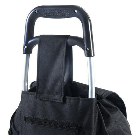 Costway Light Weight Wheeled Shopping Trolley Push Cart Bag Large Capacity - image 6 of 9