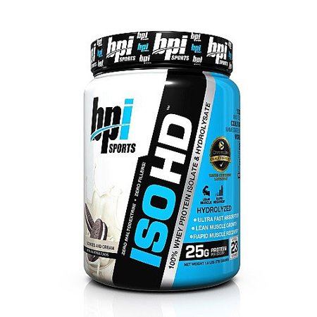 BPI Sports ISO HD, Cookies and Cream, 1.6 Lb