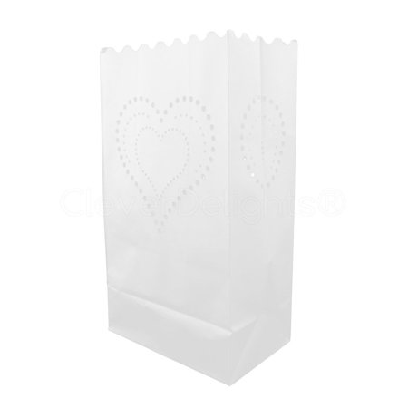 CleverDelights White Luminary Bags - 20 Count - Heart of Hearts Design - Flame Resistant Paper - Wedding, Reception, Party and Event Decor - Luminaria Candle Bag](Luminaria Maui)