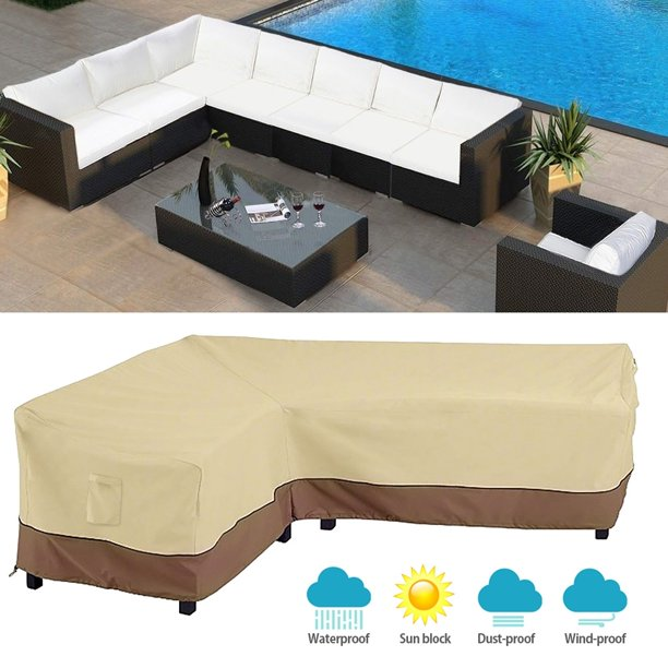 Waterproof L Shaped Corner Outdoor Garden Furniture Couch Cover Indoor Sofa Cover Protection All Purpose Dust Covers Walmart Com Walmart Com