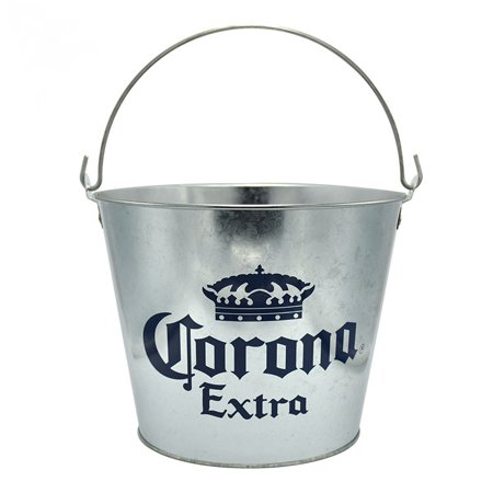 Corona Extra Galvanized Metal Beer Bucket - Colored Metal Buckets