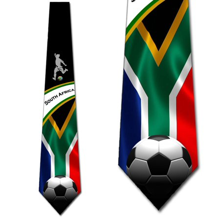 Soccer Ties Mens South Africa Tie Sports Necktie by Three Rooker