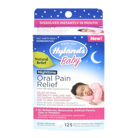 Hyland's Baby Nighttime Oral Pain Relief, 125 tablets (Baby Cigars)
