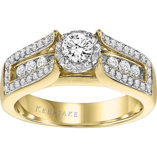 Keepsake Aurora 1 Carat T.W. Diamond 10kt Yellow Gold Engagement Ring