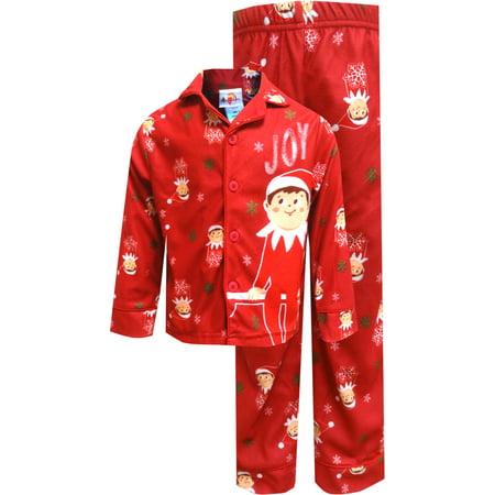 Christmas Pajamas.Elf On The Shelf Red Christmas Pajamas