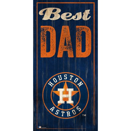 Houston Astros 6'' x 12'' Best Dad Sign - No Size