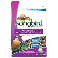 Audubon Park 11982 Multi-Bird Premium Blend Wild Bird Food, 5 lb, Bag, Seed, Nut and Fruit