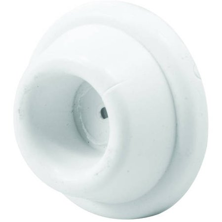 "Prime-Line MP9029 Wall Stop, 1-7/8"" Outside Diameter, Solid Rubber, Off White, Wall Mount, Concave Bumper, Self-Adhesive, 5pk"