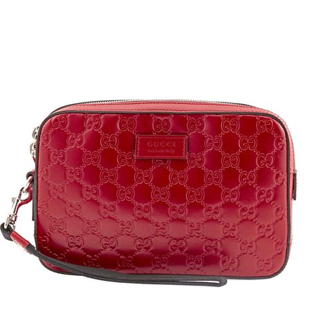Gucci Red Leather Pouch