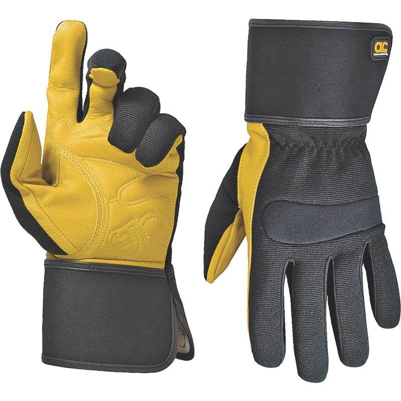 Custom Leathercraft 270M Work Gloves With Top Grain Leather And Safety Cuff ,