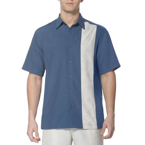 Caf Luna Men's Men's Side Panel Woven Shirt