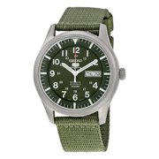 Seiko Men's 5 Automatic SNZG09K Green Nylon Automatic Fashion Watch