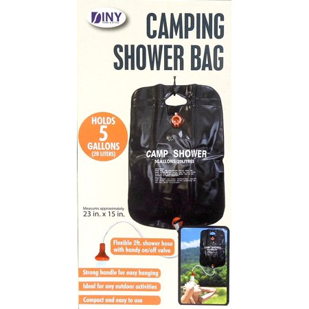 DINY Home & Style 5 Gallon Outdoor Solar Heated Camping Shower and Bag Portable (Shower Floor Camping)