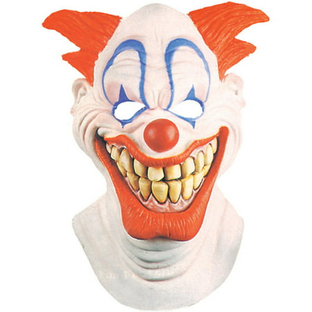 Clown Latex Mask Adult Halloween Accessory - Latex Clown