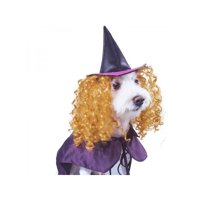 Topumt Halloween Pet Dog Wizard Witch Cloak and Hat Cosplay Costume
