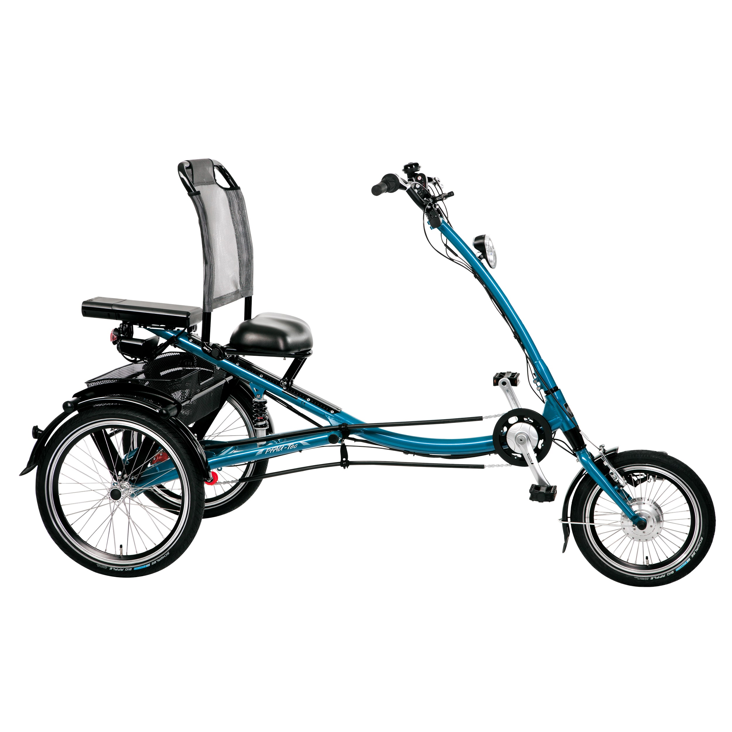 PFIFF ScooterTrike Electric Tricycle, 16 and 20 inch wheels, Asmann motor, Unisex, Blue