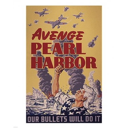 - Avenge Pearl Harbor - Our Bullets Will Do It Poster Print (8 x 10)