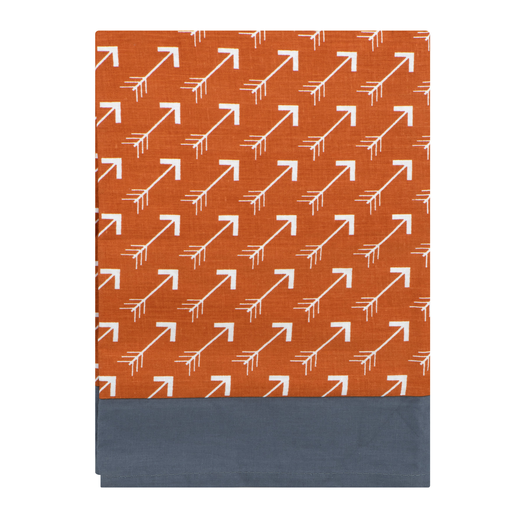 Bacati Window Valance Orange Grey Playful Fox, 1.0 CT by Bacati