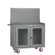 LITTLE GIANT MBP2D-FL-PB Bench Cabinet,Pegboard Panel,Steel Top