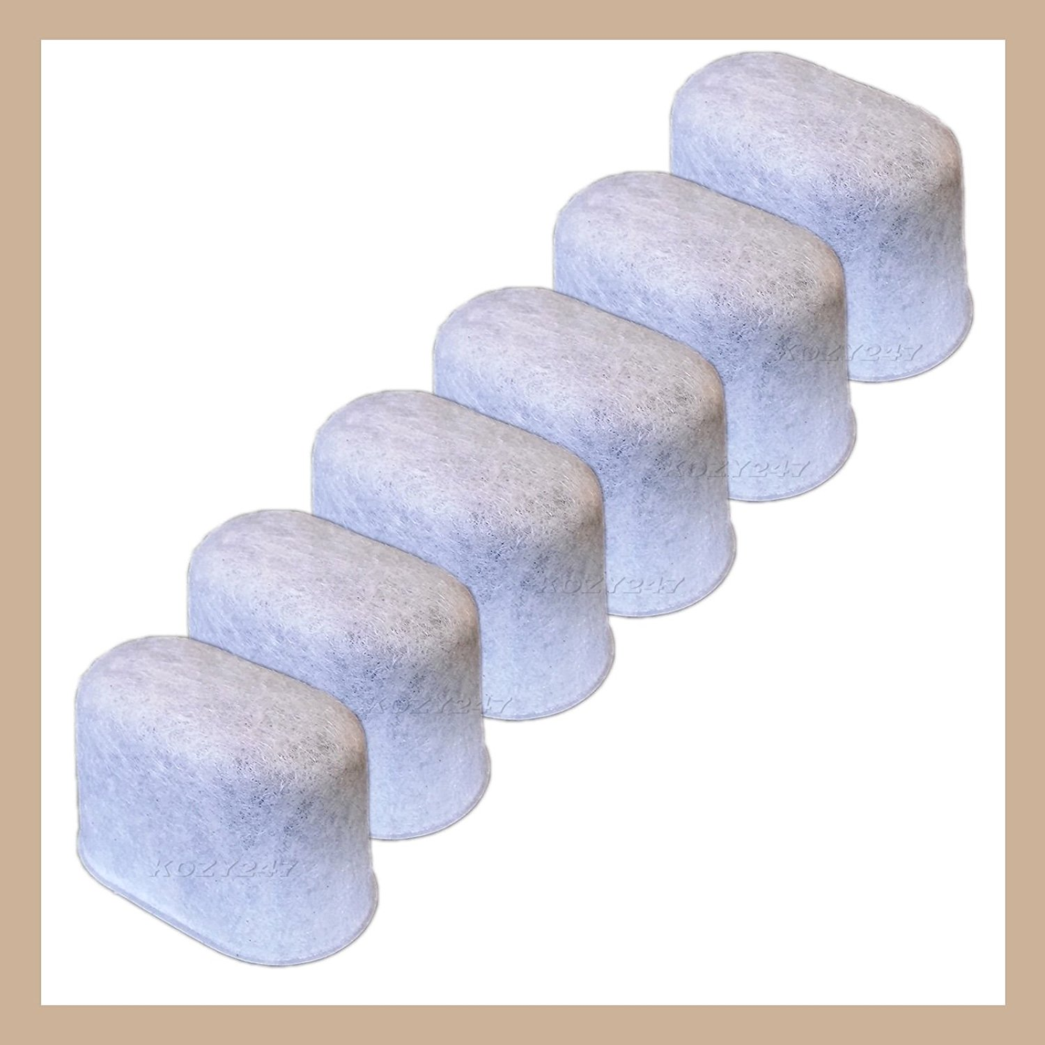6 Pack Charcoal Water Filter Replacement 05073 Fits Keurig 2.0 Coffee Makers